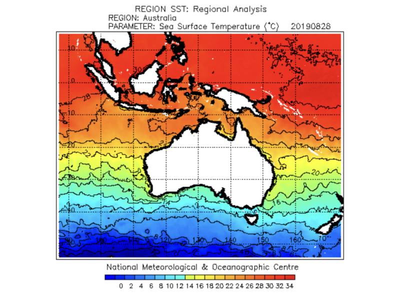 オーストラリア 海水面温度