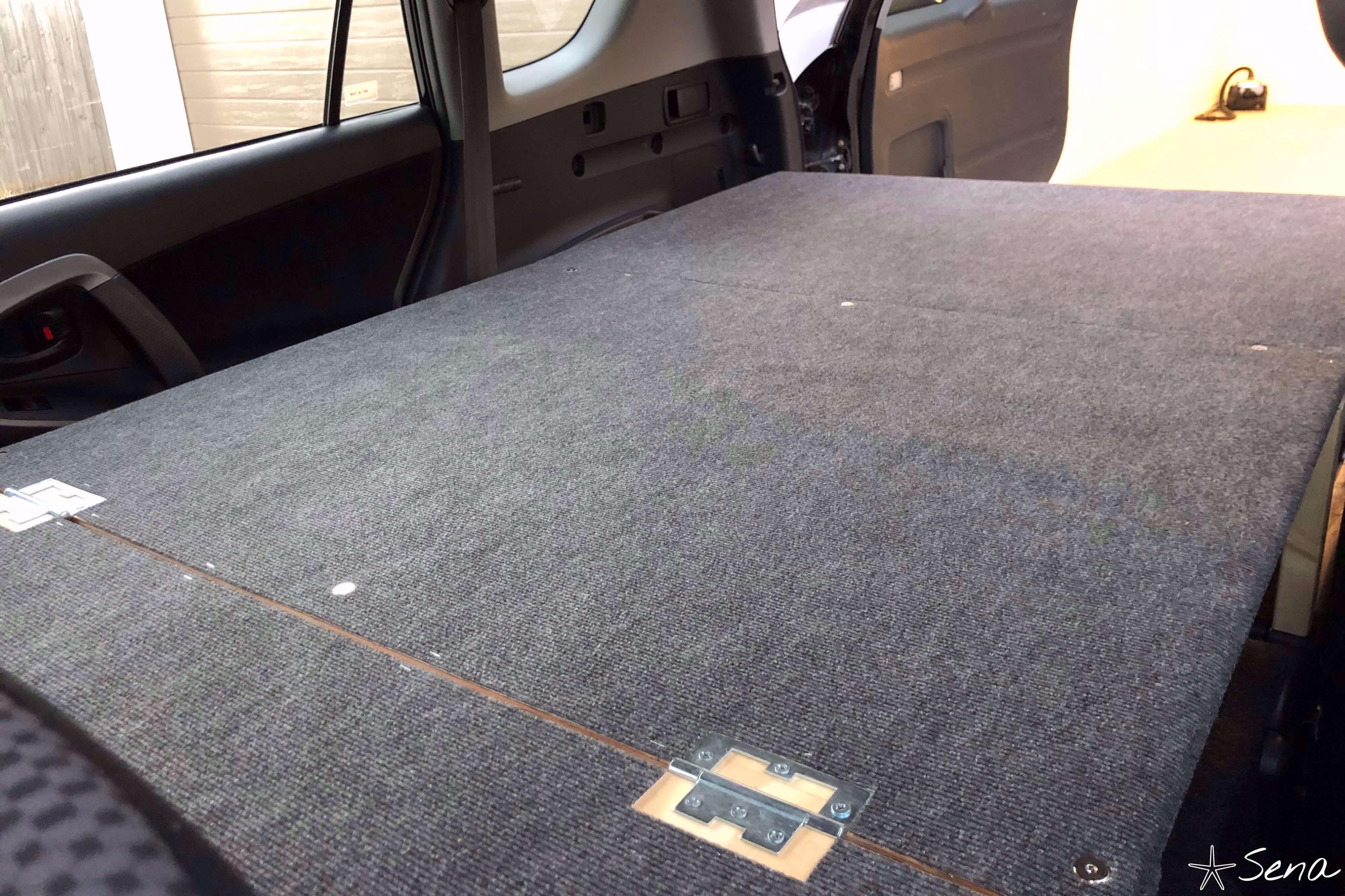 車中泊 ベッド 完成品