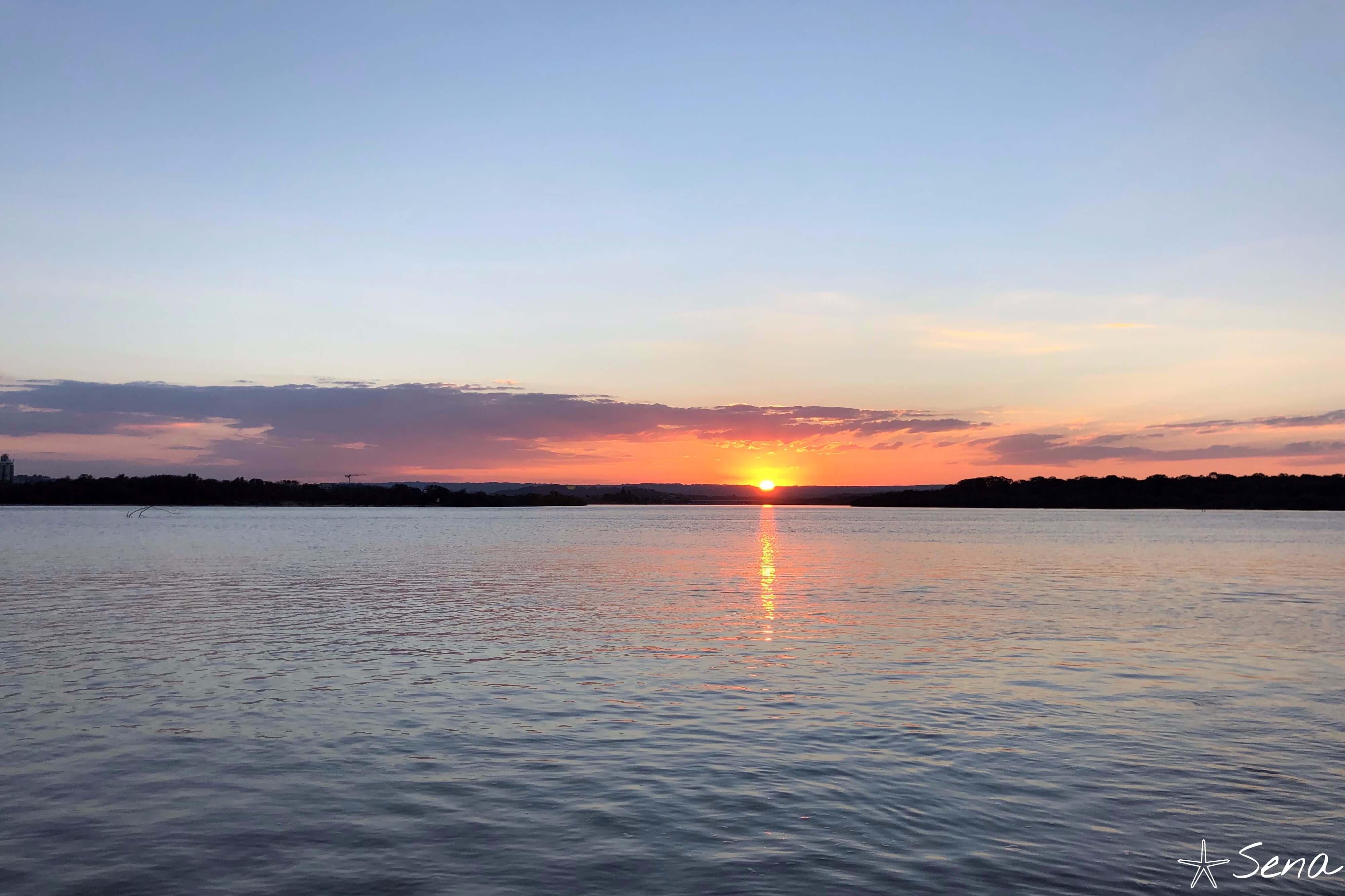 オーストラリア ノースショア 夕日